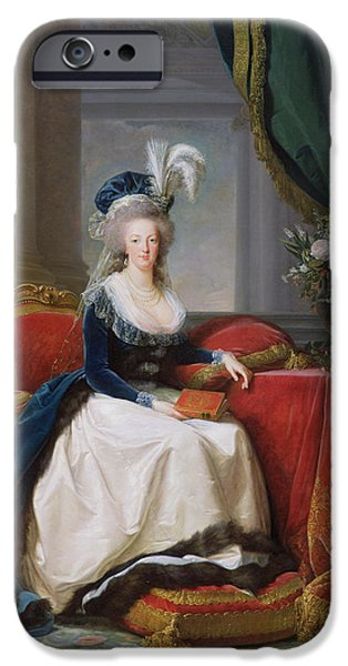 Costume iPhone Cases - Marie Antoinette iPhone Case by Elisabeth Louise Vigee-Lebrun