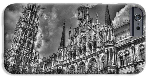 Marienplatz iPhone Cases - Marienplatz in Munich iPhone Case by Joe  Ng