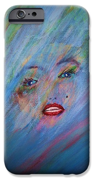 1950s Movies Paintings iPhone Cases - Marilyn iPhone Case by Irving Starr