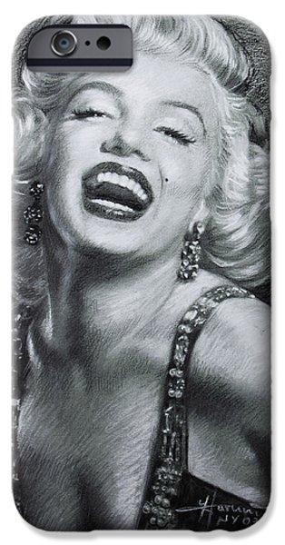 Sex Drawings iPhone Cases - Marilyn Monroe iPhone Case by Viola El