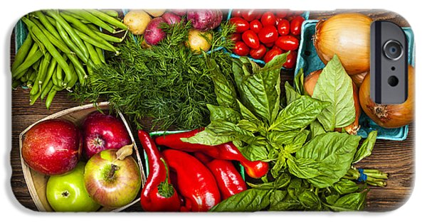 Root iPhone Cases - Market fruits and vegetables iPhone Case by Elena Elisseeva