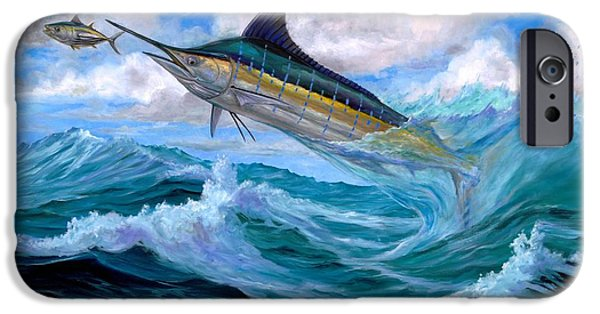 Marlin Azul iPhone Cases - Marlin Low-Flying iPhone Case by Terry  Fox