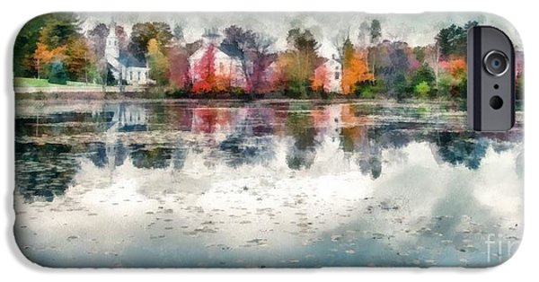 New England Village iPhone Cases - Marlow New Hampshire iPhone Case by Edward Fielding