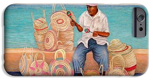 Basket Pastels iPhone Cases - Martin iPhone Case by Barney Napolske