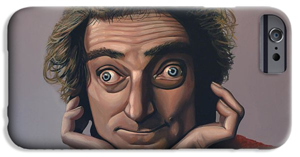 Paul Meijering iPhone Cases - Marty Feldman iPhone Case by Paul  Meijering