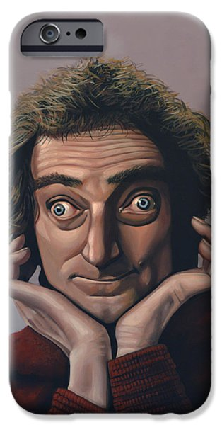 Comedian iPhone Cases - Marty Feldman iPhone Case by Paul Meijering