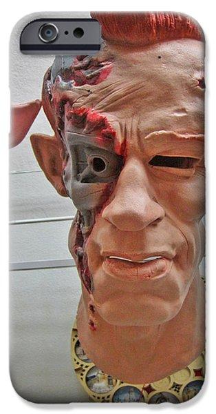 Charles Bridge Digital Art iPhone Cases - Mask. Next To Charles Bridge. Prague. Czech Republic. iPhone Case by Andy Za
