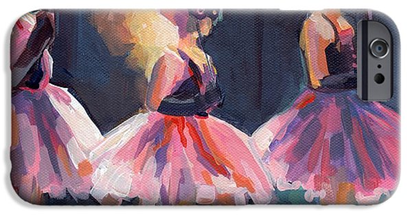 Tutus Paintings iPhone Cases - Masquerade iPhone Case by Kimberly Santini