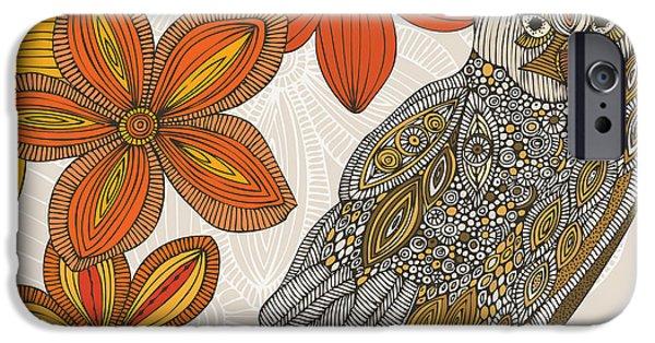 Floral Digital Art Digital Art iPhone Cases - Matt the Owl iPhone Case by Valentina Ramos
