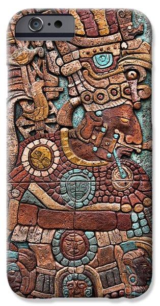 Hieroglyph iPhone Cases - Mayan hieroglyphs iPhone Case by Lee Dos Santos