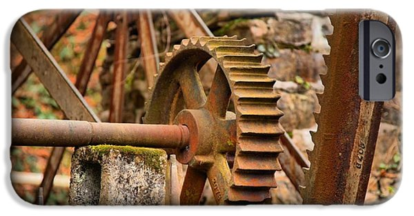 Grist Mill iPhone Cases - McClungs Grist Mill Gears iPhone Case by Adam Jewell
