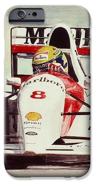 Ayrton Senna iPhone Cases - McLaren Senna iPhone Case by Oleg Konin