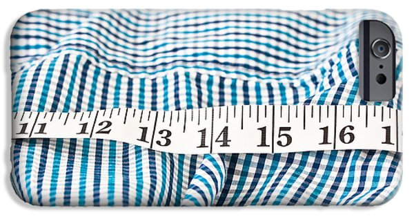 Apparel iPhone Cases - Measuring tape iPhone Case by Tom Gowanlock