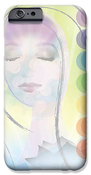 Consciousness iPhone Cases - Meditation iPhone Case by Lisa Henderling