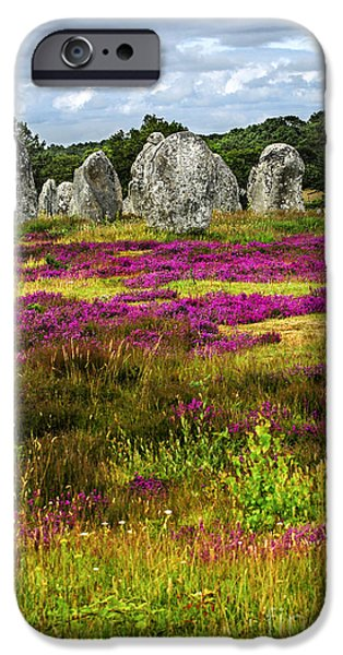 Culture iPhone Cases - Megalithic monuments in Brittany iPhone Case by Elena Elisseeva