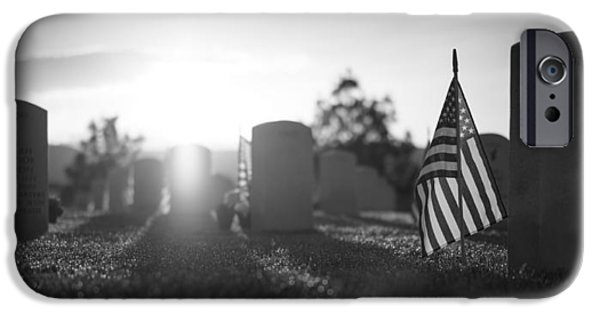 Headstones iPhone Cases - Memorial Day iPhone Case by Mountain Dreams
