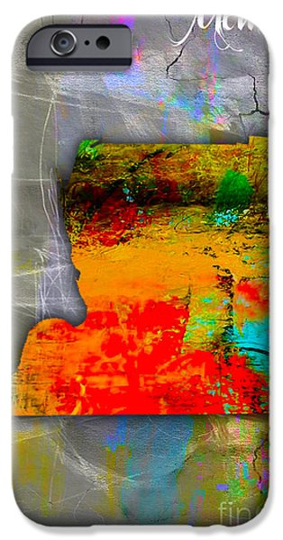 Map iPhone Cases - Memphis Map Watercolor iPhone Case by Marvin Blaine