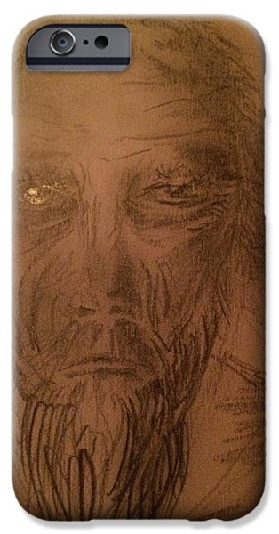 Fears Psychic iPhone Cases - Merlin iPhone Case by Emma Childs