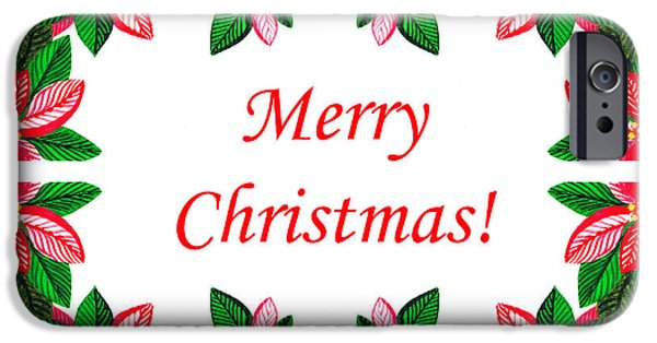 Christmas iPhone Cases - Merry Christmas iPhone Case by Irina Sztukowski