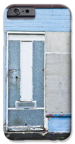 Torn iPhone Cases - Metal door iPhone Case by Tom Gowanlock