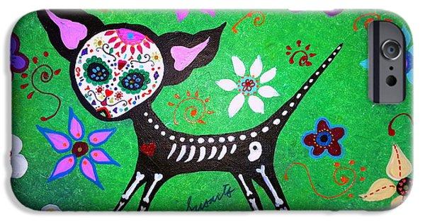 Bestfriend iPhone Cases - Mexican Chihuahua El Perrito iPhone Case by Pristine Cartera Turkus