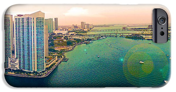 4th Of July iPhone Cases - 1 Miami iPhone Case by Michael Guirguis