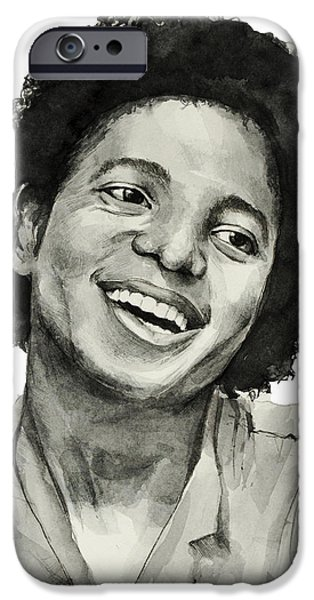 Moon Walk iPhone Cases - Michael Jackson 7 iPhone Case by MB Art factory