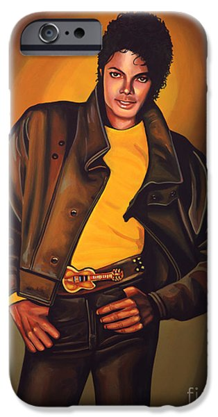 Smooth iPhone Cases - Michael Jackson iPhone Case by Paul  Meijering