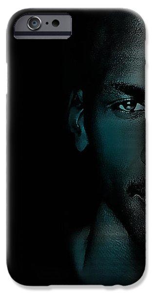 Michael Jordon iPhone Case by Marvin Blaine