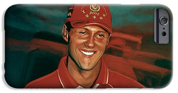 Michelin iPhone Cases - Michael Schumacher iPhone Case by Paul Meijering