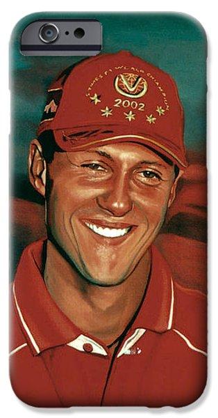 Jordan iPhone Cases - Michael Schumacher iPhone Case by Paul Meijering
