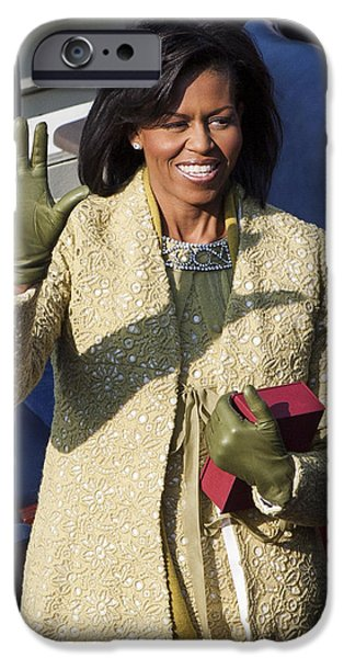 Michelle Obama Photographs iPhone Cases - Michelle Obama iPhone Case by JP Tripp
