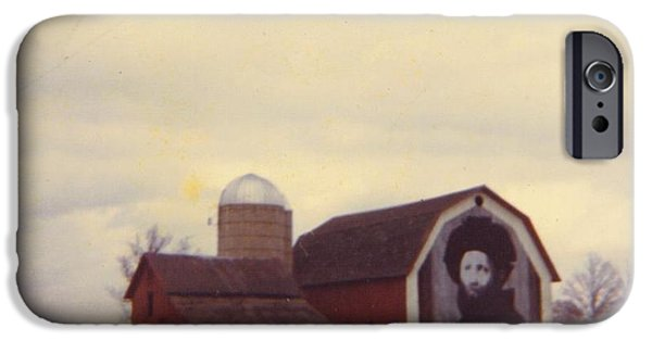 Old Barns iPhone Cases - Michigan Barn iPhone Case by Robert Floyd