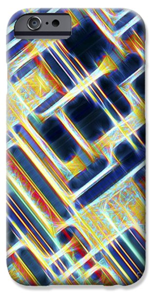 Chip iPhone Cases - Microchip, Artwork iPhone Case by Pasieka