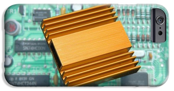 Component iPhone Cases - Microchip Processor Heat Sink iPhone Case by Sheila Terry