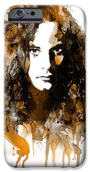 Marian iPhone Cases - Mike Starr from Alice in Chains watercolor iPhone Case by Marian Voicu