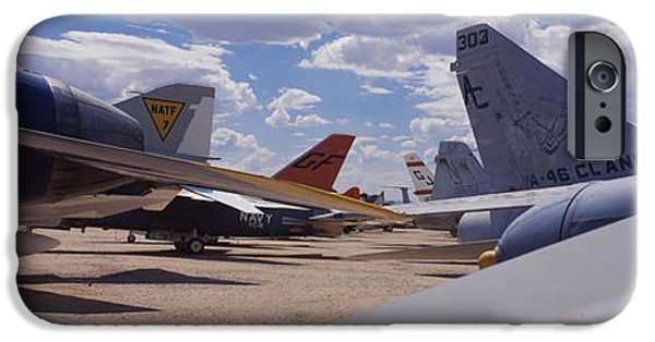 Military Airplanes iPhone Cases - Military Airplanes At Davismonthan Air iPhone Case by Panoramic Images