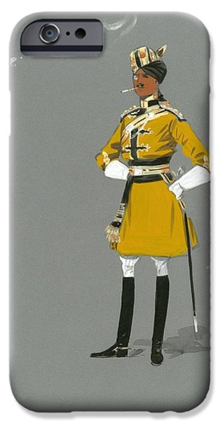 Caricature Drawings iPhone Cases - Military Uniform Caricatures iPhone Case by Celestial Images