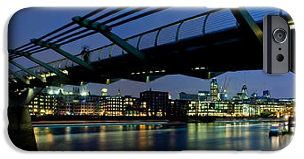 Connection iPhone Cases - Millennium Bridge And St. Pauls iPhone Case by Panoramic Images