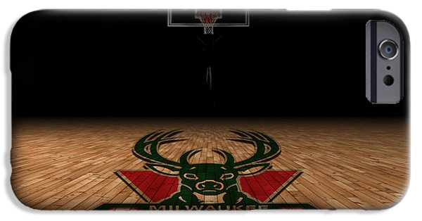 Dunk iPhone Cases - Milwaukee Bucks iPhone Case by Joe Hamilton