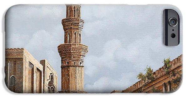 Egypt iPhone Cases - Minareto E Mercato iPhone Case by Guido Borelli