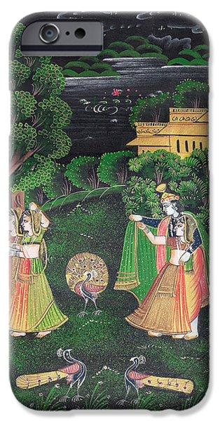 Hindu Goddess iPhone Cases - Radha Krishna iPhone Case by Art Tantra