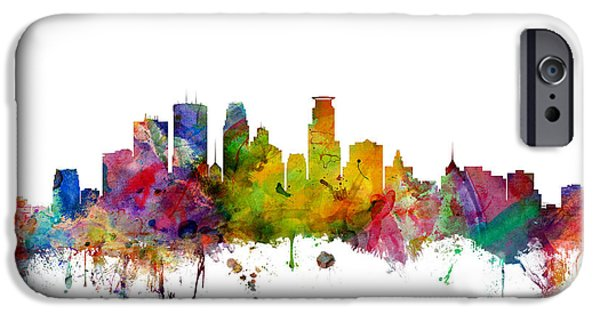 Recently Sold -  - United iPhone Cases - Minneapolis Minnesota Skyline iPhone Case by Michael Tompsett