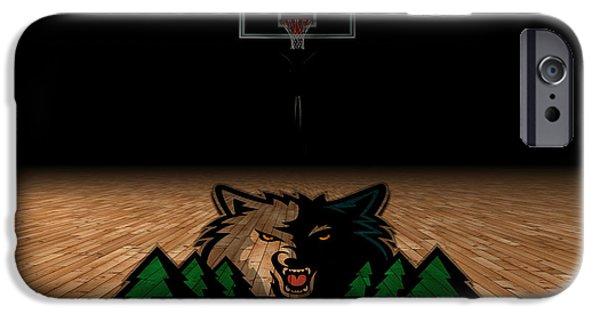 Minnesota iPhone Cases - Minnesota Timberwolves iPhone Case by Joe Hamilton