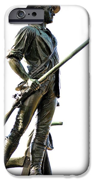 Concord Massachusetts iPhone Cases - Minute Man Statue Concord MA iPhone Case by Staci Bigelow