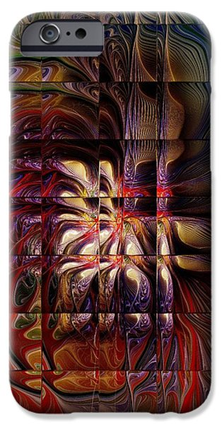 Floral Digital Art Digital Art iPhone Cases - Mirage iPhone Case by Amanda Moore