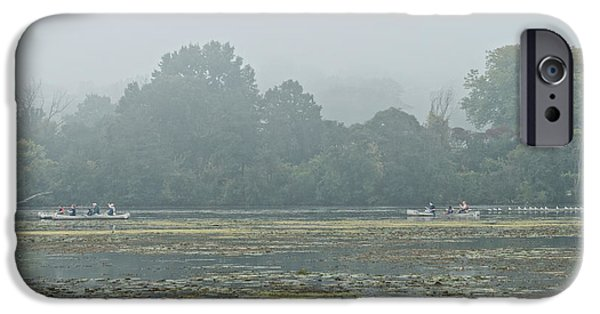 Fog Mist iPhone Cases - Misty Morning  iPhone Case by Peter Olsen