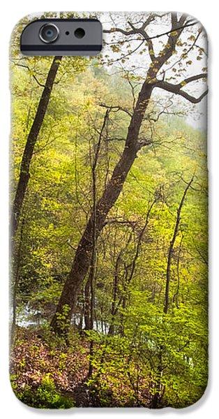 Misty Mountain iPhone Case by Debra and Dave Vanderlaan