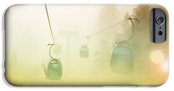 Fog Mist iPhone Cases - Misty mountain iPhone Case by Sinisa Botas