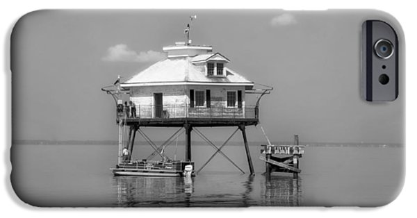 Sea Platform iPhone Cases - Mobile Bay Lighthouse iPhone Case by Mountain Dreams